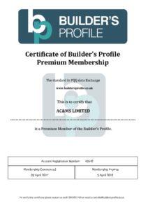 thumbnail of Builders Profile Certificate Exp. 5-4-18