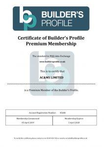 thumbnail of Builders Profile Certificate Exp. 5-4-20