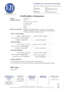 thumbnail of Company Insurance Confirmation Expires 5-5-20